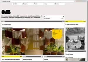 website review for sjb architects